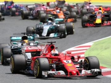Momento del GP de Cataluña de 2017
