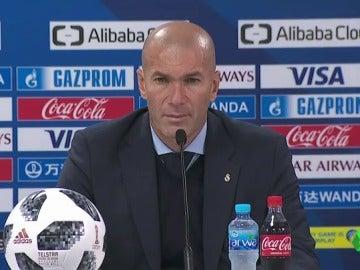 """Zidane: """"No quiero un delantero, Benzema ha estado muy bien"""""""