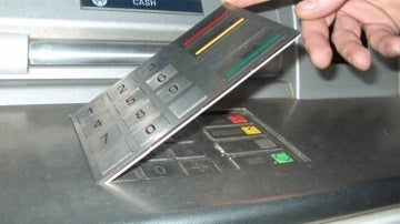 Cajero automático manipulado