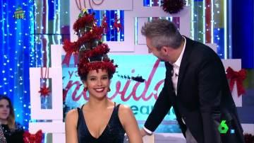 El peinado de Cristina Pedroche en forma de árbol de Navidad