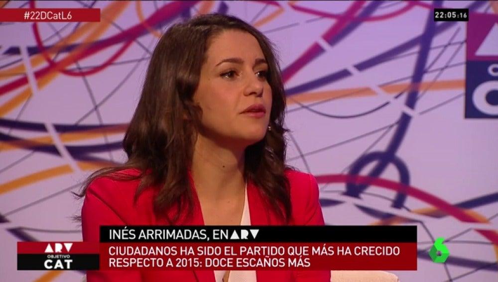 """Inés Arrimadas: """"Lo que tenemos en Cataluña lleva 30 años gestándose y no había soluciones de 15 minutos"""""""