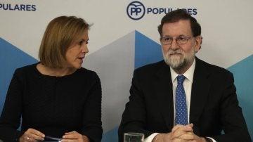 Rajoy y Cospedal en el comité del Partido Popular