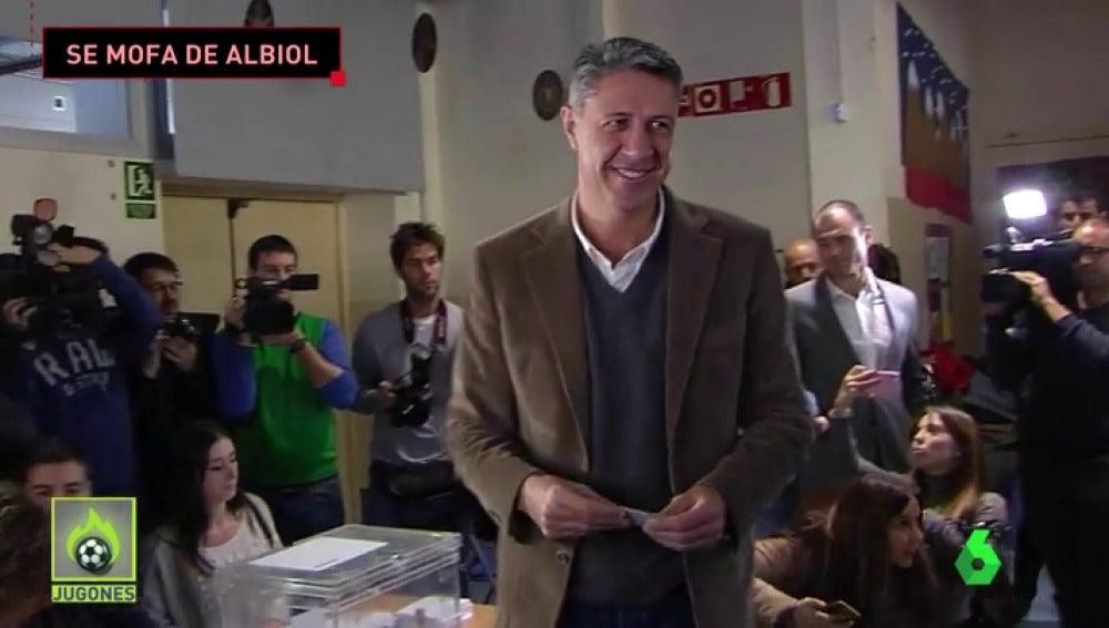 El entrenador del Baskonia se mofa de Albiol tras el batacazo del PP en las catalanas
