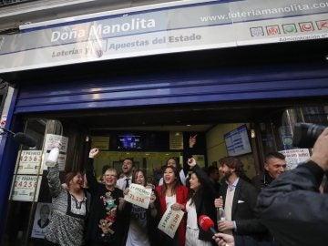 Celebración en la administración de Doña Manolita