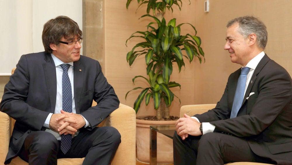 Puigdemont e Íñigo Urkullu