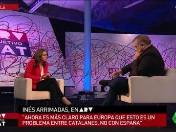 """Inés Arrimadas, sobre la mayoría absoluta independentista: """"Es una ley electoral injusta que no es propia del siglo XXI"""""""
