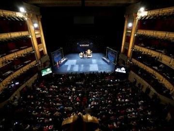 Vista general del Sorteo Extraordinario de la Lotería de Navidad, en el Teatro Real de Madrid
