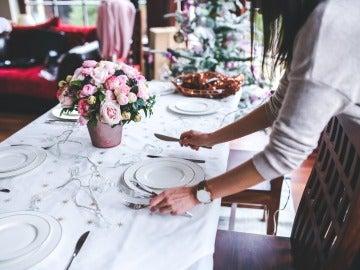 Foto de archivo de una cena navideña