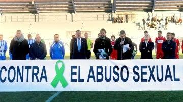 Acto contra el abuso sexual en el estadio de la Arandina C.F.