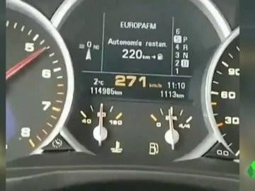 Detenido un joven de 29 años en Cantabria por conducir a 272 km/h, grabarse y subirlo a las redes sociales