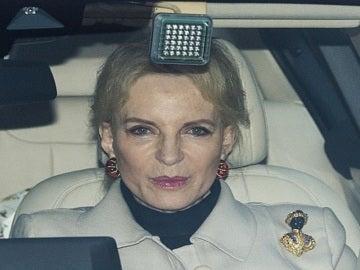 La princesa Marie Christine von Reibnitz con el broche que ha generado la polémica