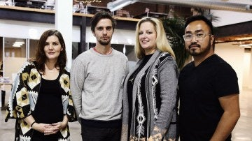 Tal Wagman, Annie Johnston, Justice Erolin y Bekah Nutt, creadores de la página web