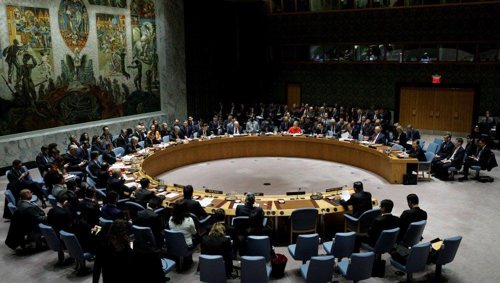 El Consejo de la Naciones Unidas, durante la reunión para tratar el asunto del armamento nuclear en Corea del Norte