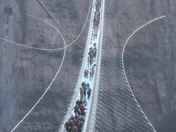 El puente de cristal más largo del mundo, en Hebei