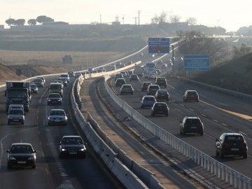 Estado de la circulación en la A-5, carretera de Extremadura, en una imagen de archivo