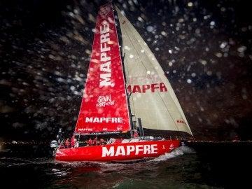 El 'MAPFRE', a su llegada a Melbourne
