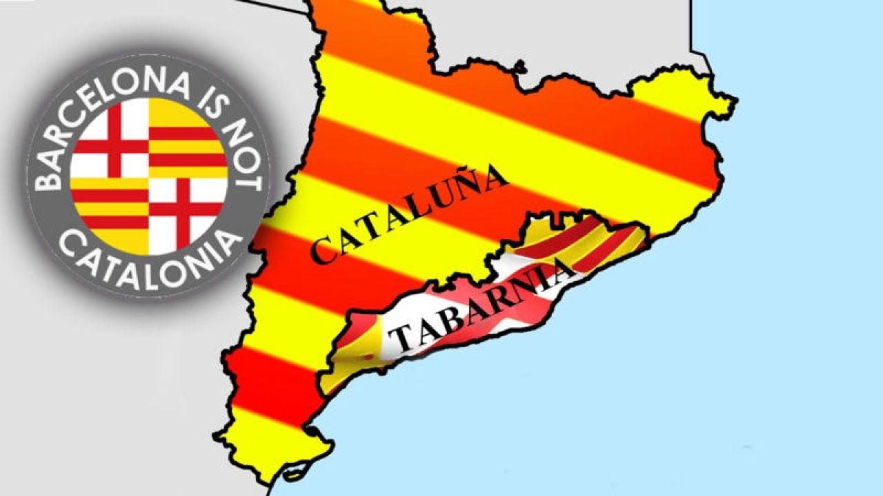 Mapa de Tabarnia, la propuesta geográfica de 'Barcelona is not Catalonia'