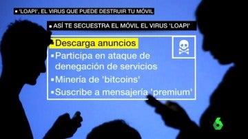 """Identifican un nuevo virus """"muy agresivo"""" que toma el control del dispositivo móvil y utilizarlo en ataques o robos de criptomonedas"""