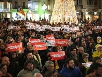 Protesta en apoyo a los concejales de la CUP de Reus