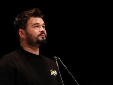 El portavoz adjunto de ERC en el Congreso de los Diputados, Gabriel Rufián