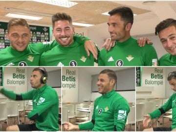 Divertido reto de los jugadores del Betis