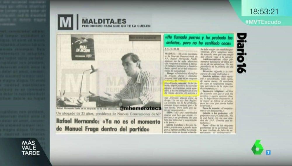 El Día Que Hernando Confesó Haber Probado Porros Y Anfetas Y Otras Frases De Políticos Que Sonaron A Inocentada