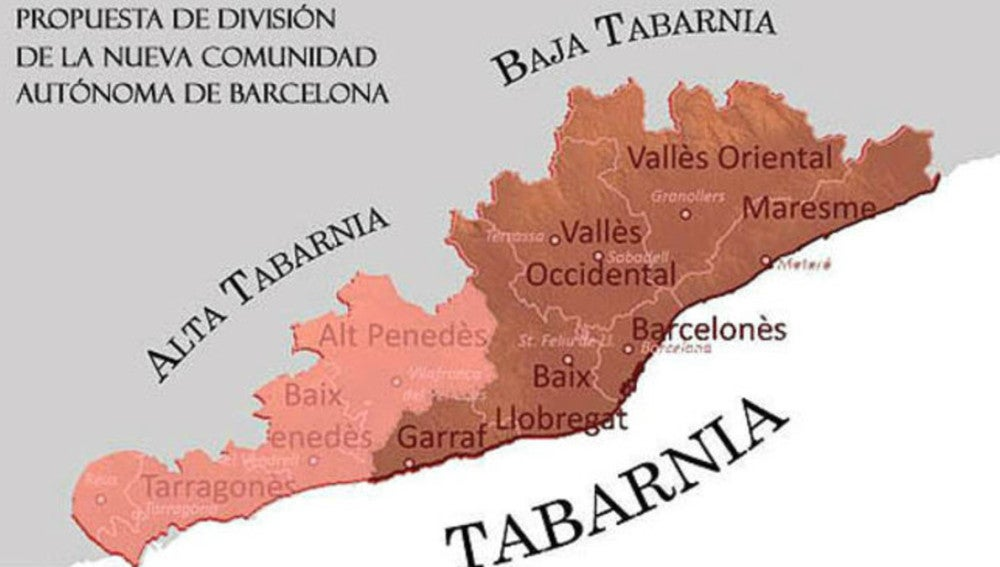 """""""Tabernés"""", posible gentilicio de Tabarnia según la RAE"""