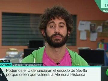 """Julián Moreno, concejal de 'Participa Sevilla': """"Ese escudo está invisibilizando a las mujeres"""""""