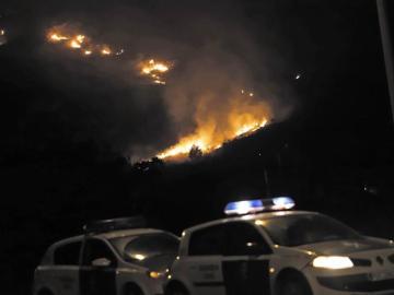Incendio forestal del Coll de Síller, entre Pollença y el Port de Pollença