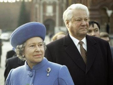 Isabel II y Borís Yeltsin