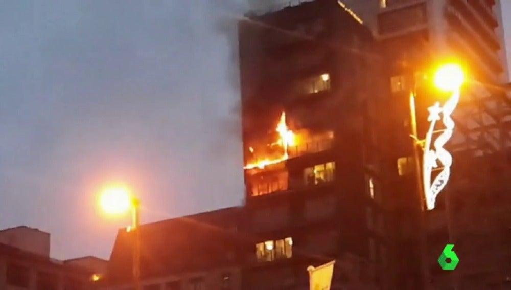 Incendio en un bloque de Mánchester
