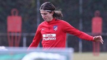 Filipe Luis, en un entrenamiento