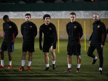 El Barça, en un entrenamiento