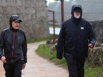 Mariano Rajoy durante su habitual recorrido por la ruta de la Pedra de Auga