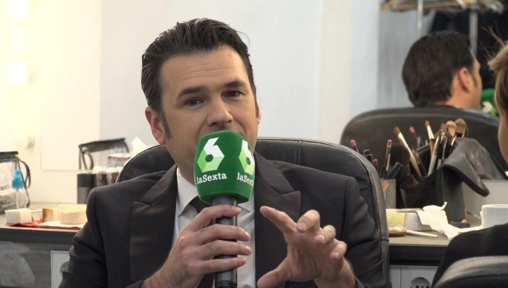 Iñaki López antes de dar las camanadas en laSexta