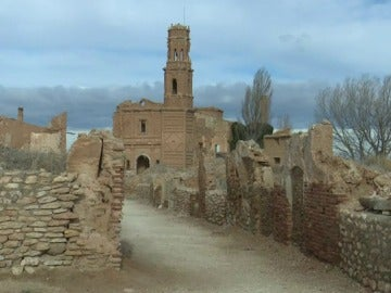 Imagen del pueblo viejo de Belchite