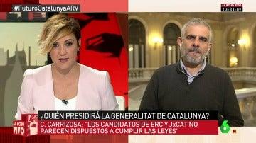 El portavoz de Ciudadanos en el Parlament, Carlos Carrizosa
