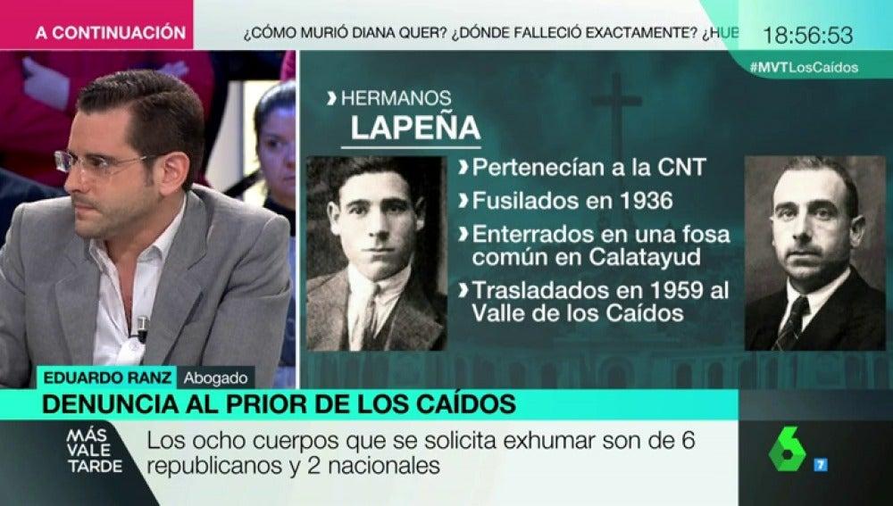 Eduardo Ranz, abogado que ha presentado las denuncias de las 12 familias de represaliados por el franquismo