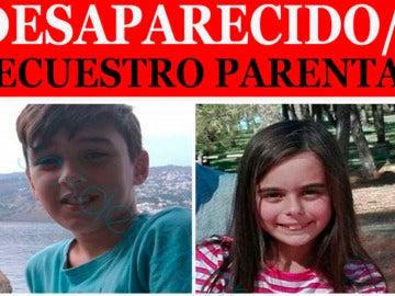 Imagen de los dos menores secuestrados en Granada