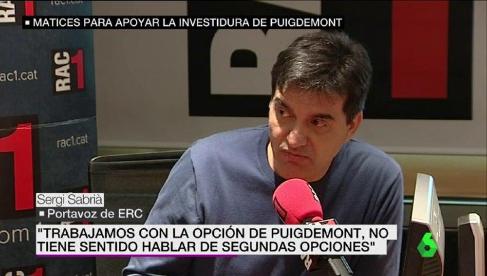 Sergi Sabrià, portavoz de ERC
