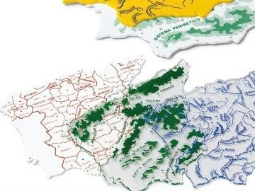 Plantillas escolares con el mapa de España