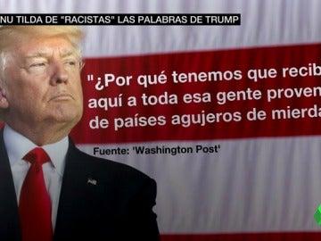"""Trump, sobre los migrantes de El Salvador y Haití: """"¿Por qué tenemos a gente de países de mierda viniendo aquí?"""""""