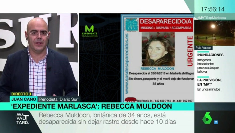 El periodista de 'Diario Sur' habla sobre la desaparición de Rebecca Muldoon