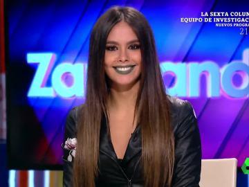 El detallle corporativo que ha lucido Cristina Pedroche durante el directo de Zapeando