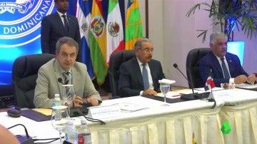 Reunión entre el Gobierno y la oposición venezolanos en Santo Domingo.