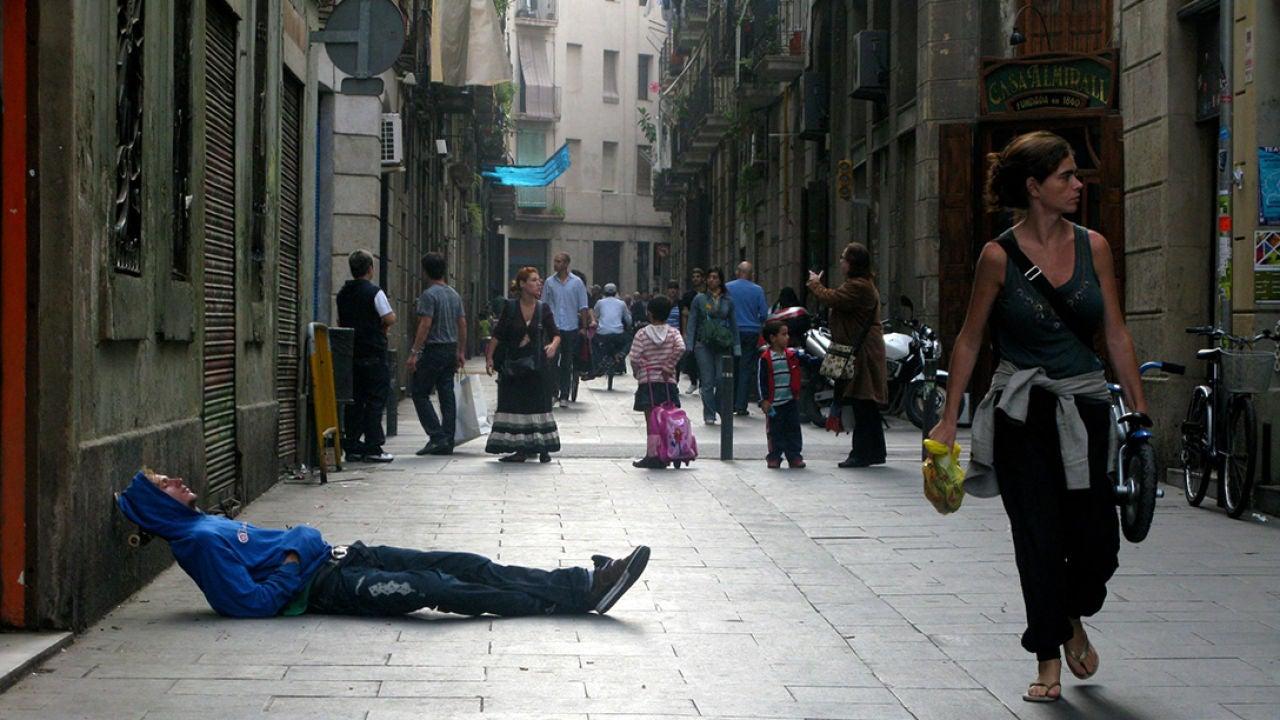 Barrio de El Raval, en Barcelona