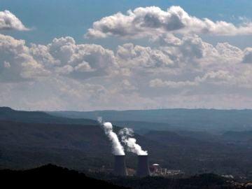 Vista general de la comarca Valle de Ayora donde esta situada la central nuclear de Cofrentes