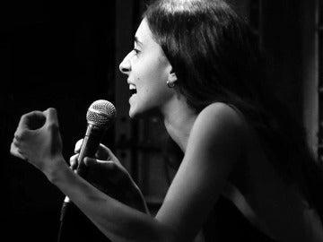 Alejandra Martínez de Miguel en el 'Poetry Slam'