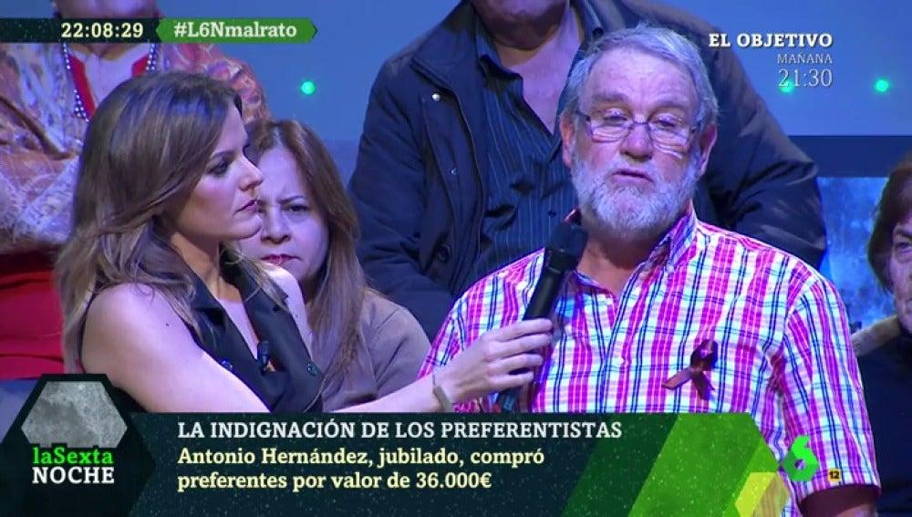 Antonio Hernández, un jubilado que compró preferentes por valor de 36.000 euros