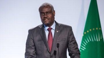 El Presidente de la Comisión de la Unión Africana, Moussa Faki Mahamat
